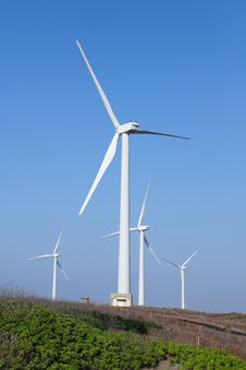Free Photo Of Wind Power Installation In Sunny Day Royalty Free Stock Photo - 19691665