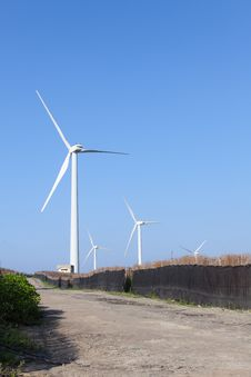 Free Photo Of Wind Power Installation In Sunny Day Royalty Free Stock Photo - 19691685