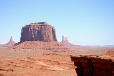 Free Monument Valley Royalty Free Stock Photo - 19691855