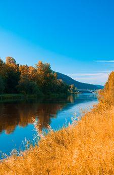 Free River Vltava With The Bridge Stock Photography - 19692192