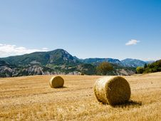 Free Hay Bales In Provence, France Stock Photography - 19692402
