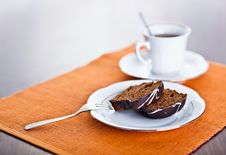 Free Chocolate Cake And Cup Stock Image - 19692531