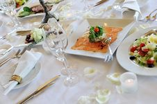 Free Wedding Dinner Royalty Free Stock Photography - 19692817