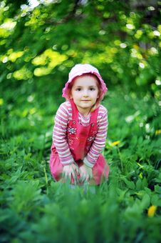 Free Playful Little Girl Royalty Free Stock Image - 19692826
