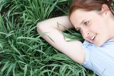 Free Girl On Grass Stock Image - 19692891