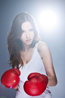 Free Boxing Woman Royalty Free Stock Photos - 19692918