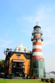 Free Lighthouse And Restaurant Stock Photography - 19693002