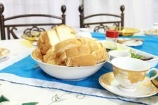 Breakfast With English Bread Stock Photo