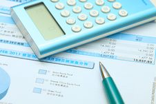 Free Accounting On The Bill Royalty Free Stock Photo - 19693445