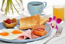 Free American Breakfast Stock Photography - 19693462