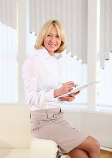 Young Business Woman With Papers Stock Photos
