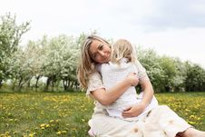 Free Girl With Mother In The Park Stock Images - 19693834