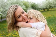 Free Girl With Mother In The Park Royalty Free Stock Photos - 19693838