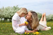 Free Girl With Mother In The Park Stock Photo - 19693860