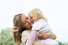 Free Girl With Mother In The Park Royalty Free Stock Image - 19693866