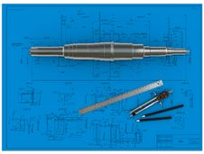 Free Metal Shaft, Compasses, Rulers And Pencils At An E Royalty Free Stock Photo - 19694075