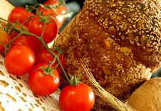 Free Tomatoes And Bread Royalty Free Stock Photo - 19694095