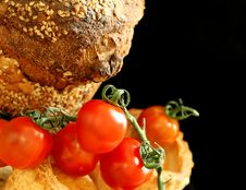 Free Tomatoes And Bread Royalty Free Stock Image - 19694486