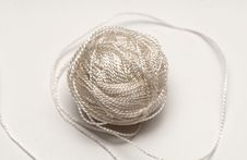 Free Simple Cord Skein On White Background Stock Photos - 19694873