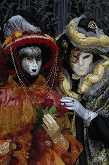 Free Venetian Carnival Mask Royalty Free Stock Photography - 19695067