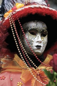 Free Venetian Carnival Mask Royalty Free Stock Photography - 19695257