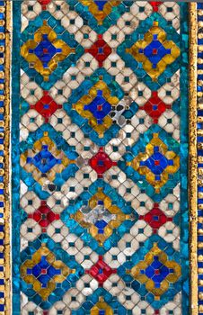 Free Thai Pattern Tile Wall Stock Images - 19695554