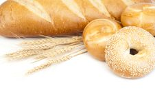 Free French Baguette And Bagels Stock Image - 19696081