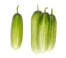 Free Clean And Green Cucumber Isolated Royalty Free Stock Photo - 19696815