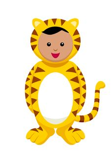 Kid With Tiger Costume Royalty Free Stock Image