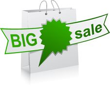 BIG Sale Green Symbol. Royalty Free Stock Photography