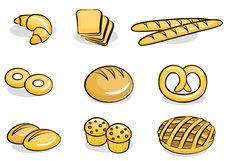 Free Bakery Icon Set Royalty Free Stock Image - 19698046