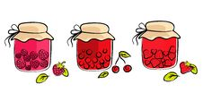 Free Jam Jars Collection Royalty Free Stock Images - 19698149