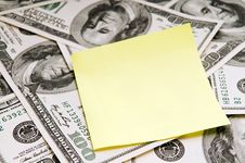 Card Over American Dollars Stock Photos