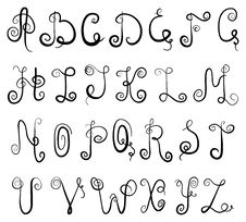 Free Vignette Alphabet Stock Image - 19698291