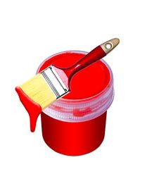 Free Paint Bucket And Brush Stock Photos - 19698463