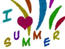 Free I Love Summer Royalty Free Stock Photo - 19698535