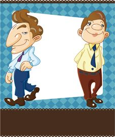 Free Cartoon Office Worker Card Royalty Free Stock Images - 19698709