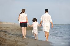 Free Happy Young Family Have Fun On Beach Stock Photo - 19698970
