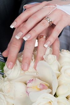 Interlacement Of Hands - To Love Interlacement Royalty Free Stock Photography