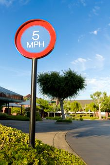 Free Five Miles Per Hour Sign Stock Image - 19699781