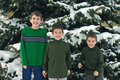 Free Boys Playing Outside In Snow Royalty Free Stock Photography - 1978527