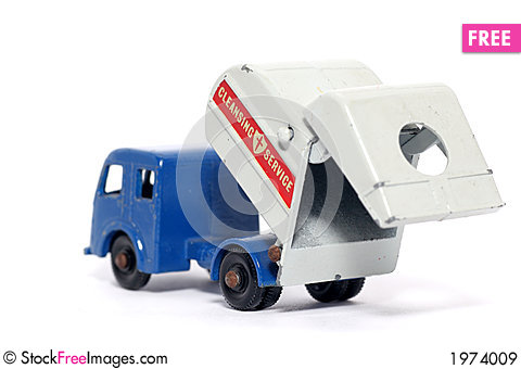 Free Old Toy Car Tippax Refuse Collector Royalty Free Stock Images - 1974009
