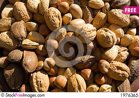 Free Assorted, Whole Mixed Nuts Royalty Free Stock Photo - 1976365