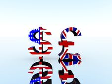 British Pound And US Dollar 22 Royalty Free Stock Images