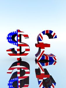 British Pound And US Dollar 23 Royalty Free Stock Photo