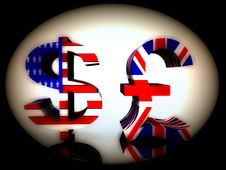 British Pound And US Dollar 25 Royalty Free Stock Photo