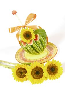 Free Watermelon Sunflower Stock Images - 1970494