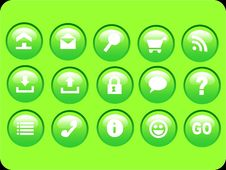 Free Green Icons Stock Image - 1971041