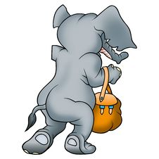 Free Elephant And Bag Stock Photography - 1971232
