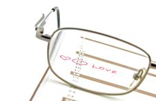 Free Notebook Glasses And Love Symbol Stock Photo - 1971950